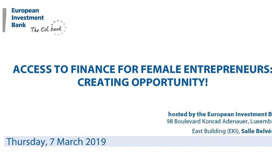 Access to finance for female entrepreneurs