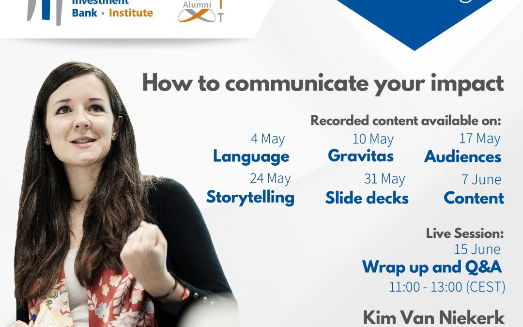 E-training on how to communicate your impact